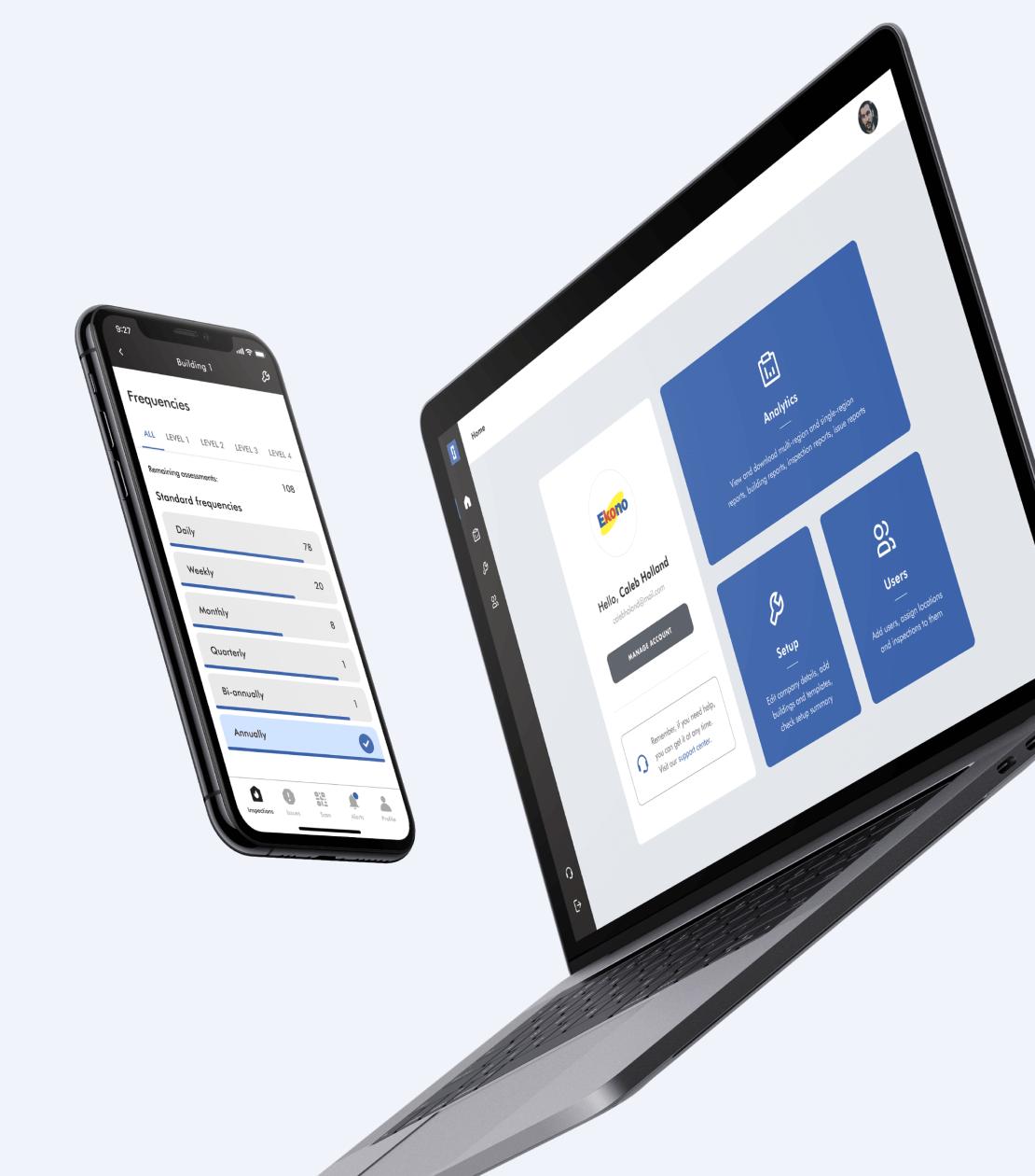 view on mobile & desktop